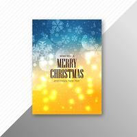 Merry christmas card template brochure design