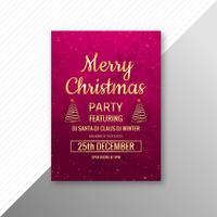 Merry christmas tree card brochure party template