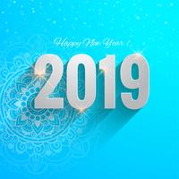 2019 Happy New Year celebration background