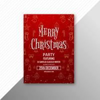 Schönes Kartenschablonenbroschürendesign der frohen Weihnachten