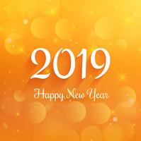 Elegant 2019 happy new year colorful card background vector