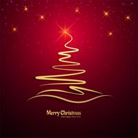 Merry christmas tree celebration background vector