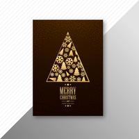 Hermoso colorido casarse con la fiesta de Navidad flyer plantilla diseño v