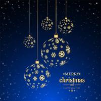 Merry christmas ball decorative background