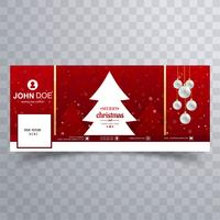God julkula med facebook banner mall design