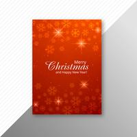 Marry christmas snowflake brochure template design
