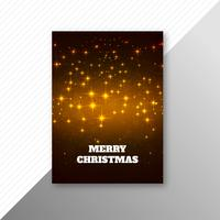 Vacker glatt julkort broschyr fest mall design