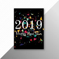 Beautiful 2019 flyer template design vector