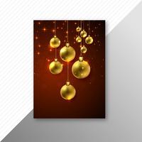 Schönes Kartenbroschüren-Partyschablonendesign der frohen Weihnachten