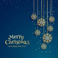 Beautiful merry christmas decorative snowflake background
