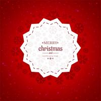 Merry christmas card background vector