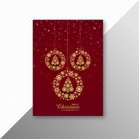 Marry christmas decorative ball brochure template