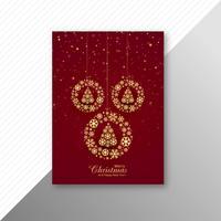 Marry christmas decorative ball brochure template