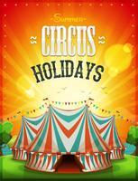 Cartaz dos feriados do circo do verão