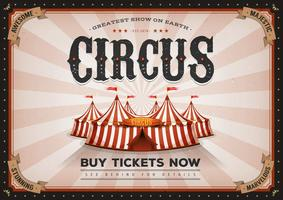 Cartaz horizontal do circo do vintage