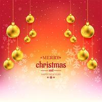 Merry christmas ball celebration background