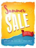 Banner de modelo de venda de verão