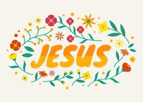 Tipografía de jesus vector