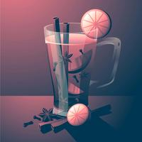 Mulled Wine Beverages Realistic