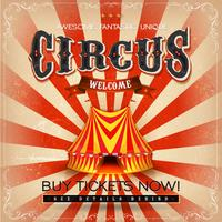 Affiche Vintage Grunge Square Circus