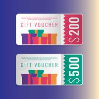Design Concept For Gift Vouchers Templates vector