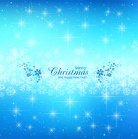 Merry christmas card glitters blue background