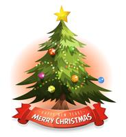 Christmas Tree With Wishes Banner vector