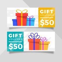 Flat Gift Voucher Template