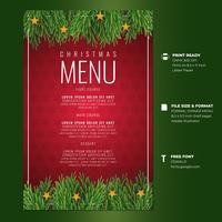 Christmas Greeting Dinner Menu Card Templates