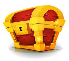 Cartoon Treasure Chest voor Game Ui