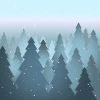 Abstract Winter Sepia Landscape Background Illustration