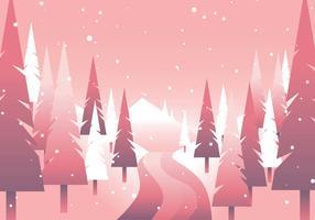 Winter Forrest Path Minimalism Geometric
