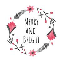 Cute Christmas Wreath To Christmas Season vector