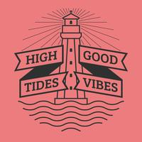 Unieke High Tides Good Vibes belettering vectoren