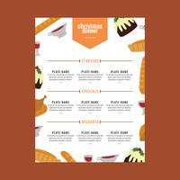 Christmas Menu With A Colorful Style
