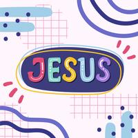 Vetor de letras de jesus