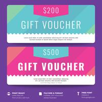 Gift Voucher Template With Colorful Pattern Background