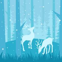 Winter Forest Vector Illustration