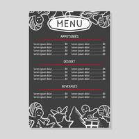 Christmas Dinner Menu Vector