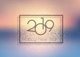 Glittery Happy New Year background