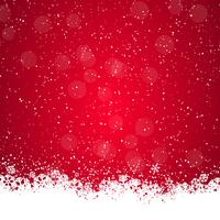 Fundo de Natal com flocos de neve