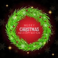 Christmas wreath background vector