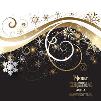 Ouro elegante e fundo preto do Natal