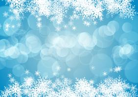Kerst achtergrond met sneeuwvlokken