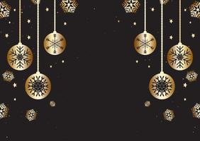 Christmas background in gold and black