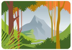 Vår Landscape Vector