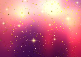 Fondo festivo con confeti estrella