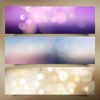Christmas banners with bokeh lights design