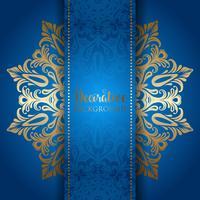 Fundo elegante com um design de mandala de ouro
