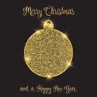 Christmas and New year background with glittery bauble design